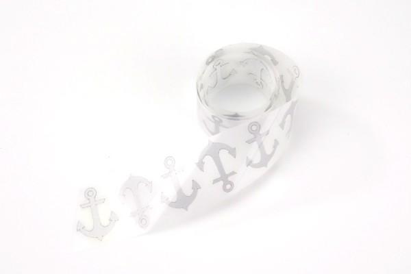 Anker   Reflektierendes Bügelbild Meterware   2,5 cm  