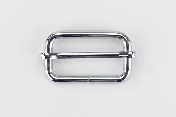 Metall Schieber 38 mm | Leiterschnalle | Silber-farben