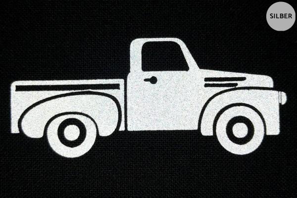 Classic Pick Up | Reflektierendes Bügelbild | 5 cm |