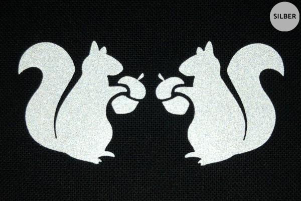 Eichhörnchen Paar | Reflektierendes Bügelbild 2er-Set | 2,5 cm |