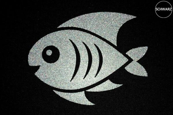 Fisch | Reflektierendes Bügelbild Meterware | 5 cm |