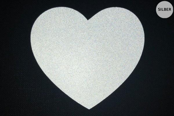 Herz | Reflektierendes Bügelbild | 10 cm |