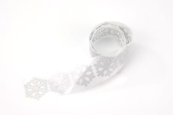 Schneeflocke | Reflektierendes Bügelbild Meterware | 2,5 cm |