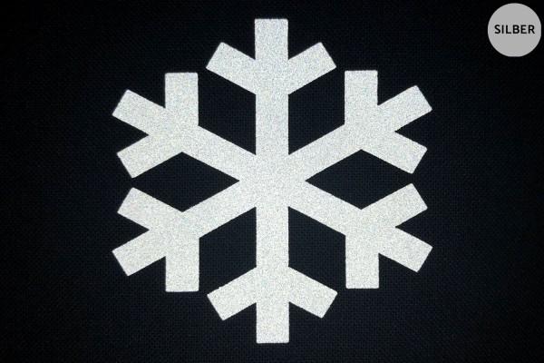 Schneeflocke   Reflektierendes Bügelbild   5 cm  