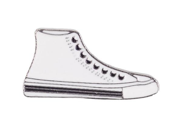 Emaille Pin Sneaker | Weiß Schwarz | Anstecker | Brosche