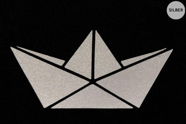 Papierboot   Schiffchen   Reflektierendes Bügelbild Meterware   2,5 cm  