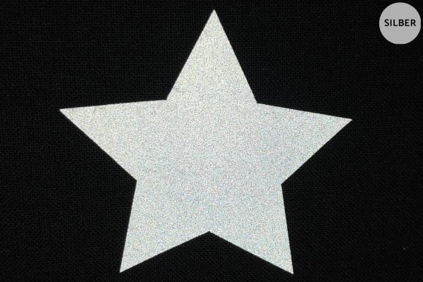 Stern | Reflektierendes Bügelbild | 10 cm |