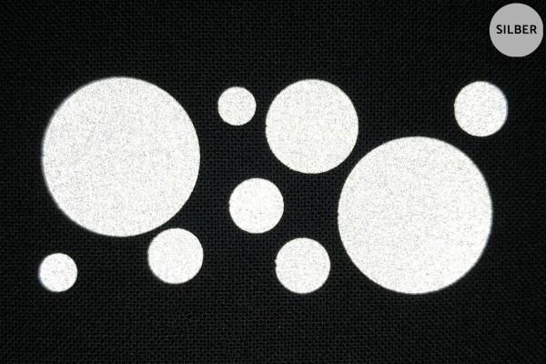 Punkte | Reflektierendes Bügelbild Meterware | 5 cm |